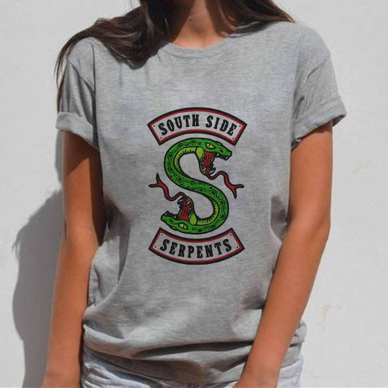 Kawaii Harajuku Snake Print Women Aesthetic Vintage Streetwear Women Clothes 2019 Summer Korean Clothes Ulzzang T Shirt