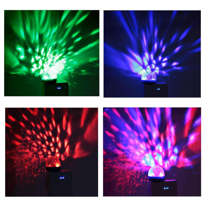 Мини usb led Свет этапа Музыка звук сенсор гриб вечерние портативный магический шар DJ лампы для дискотеки для детей dropshippiing Joneaz
