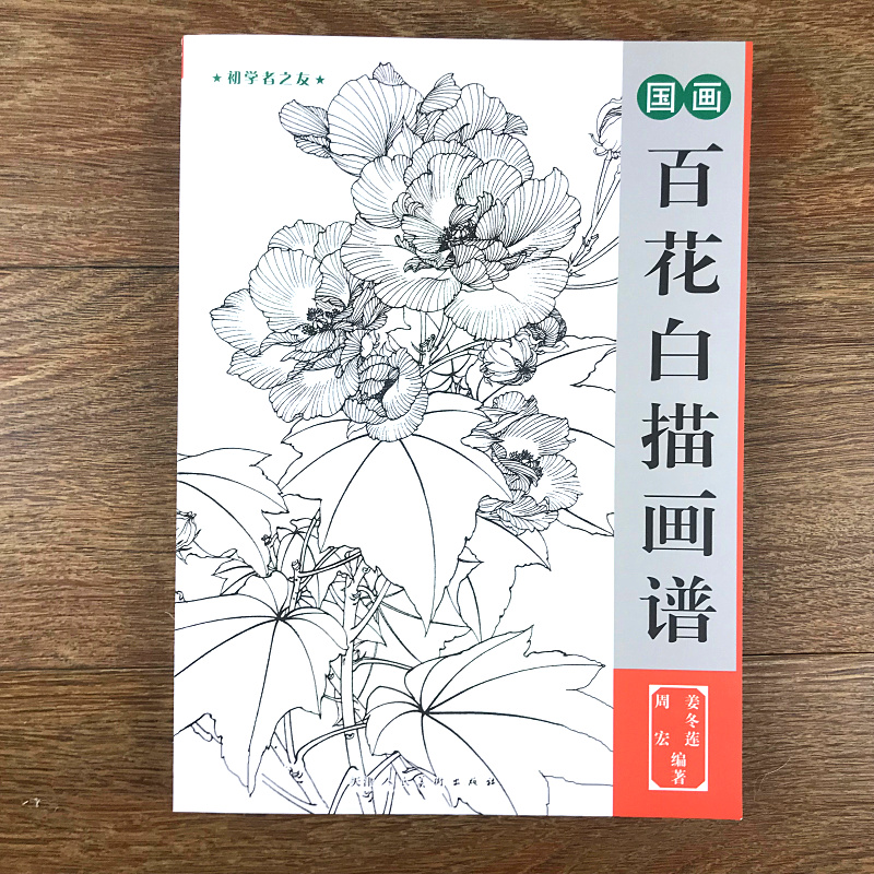Chinese Painting Line Drawing Book Color Pencil Different Style Flower Coloring Bai Miao Book Engraving Pattern For Beginner