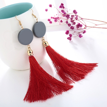 Women Long Drop Wood Beads Bohemian Earring For Women