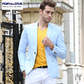 Port&Lotus Men Suit Jacket Brand Clothing Slim Fit Formal Style Full Length Sleeve Single Button Business Suit Solid Color 008
