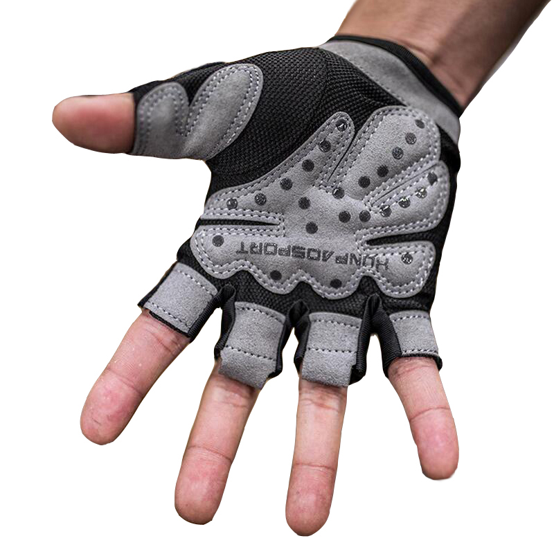 Summer Half Finger Sport Gym Gloves Shockproof Fitness Gloves Weightlifting Dumbbell Gloves For Men/women Non-Slip Durable xinluying body building fitness gloves half finger women men wearable weightlifting gloves gym training bike cycling pink xs s