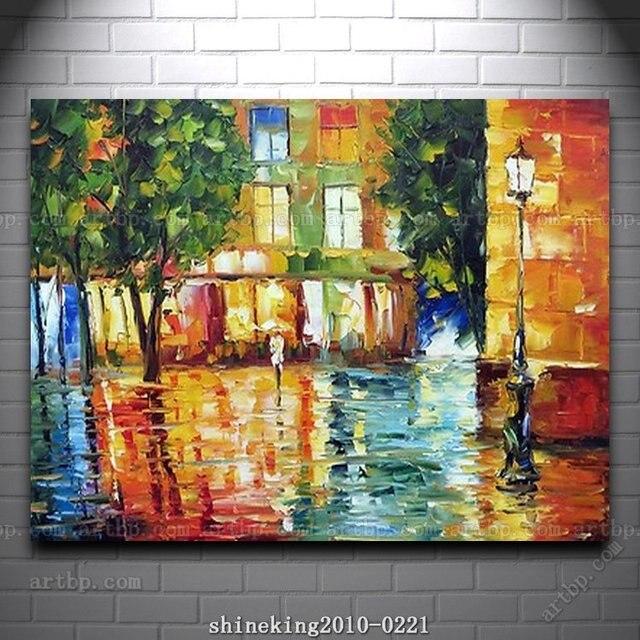 Vaak kleurrijke paletmes olieverf op canvas moderne bloem schilderij  BN03