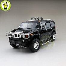 1/18 GreenLight هامر H2 ديكاست نموذج سيارة SUV لعب بنين بنات هدايا أسود اللون