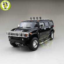 1/18 Greenlight Hummer H2 Diecast Model Auto Suv Speelgoed Jongens Meisjes Geschenken Zwarte Kleur
