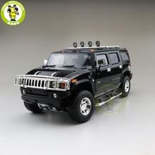 1/18 greenlight hummer h2 diecast modelo carro suv brinquedos meninos meninas presentes cor preta