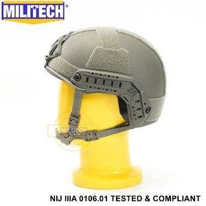Image 3 - ISO Certified MILITECH FG NIJ Level IIIA 3A FAST OCC Liner High XP Cut Bulletproof Aramid Ballistic Helmet With 5 Years Warranty