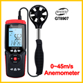Переносной Анемометр манометр Точный Цифровой USB Анемометр Температура ручной инструмент GT8907-BENETECH
