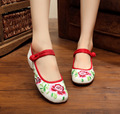 2016 New Pattern Old Cloth Nation Wind Embroidered Within Increase Shoe Square Leisure Time Women's Chinese Style Shoes