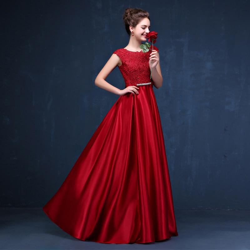 CX SHINE Custom size! Elegant lace long Evening dress tanpa lengan - Gaun acara khas - Foto 4