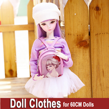Handmade Doll Clothes for Dolls Fashion Girls Coat Dress for 55 60cm or Bjd 1/3 Jointed Doll Toys Dolls Accessories