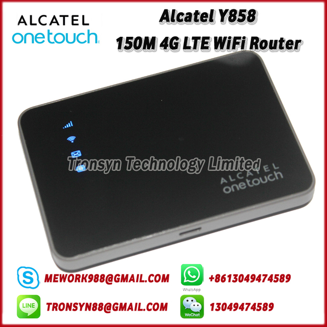 US $58 92 5% OFF|New Original Unlock Alcatel Y858 150Mbps Pocket 4G LTE  Mobile WiFi Hotspot Support LTE FDD B1 B3 B7 B8 B20-in 3G/4G Routers from