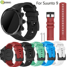 outdoor Sport Silicone Replacement Watch Band Wrist Strap Bracelet for Suunto 9/Suunto Spartan Sport Wrist HR Baro Smartwatch цена и фото