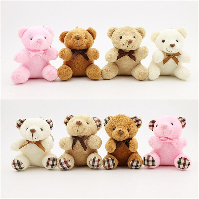 20pcs Mini Teddy Bears Stuffed Toys Small Plush Dolls Animal Soft Fluffy Baby Pendant Gift Kids Picnic/Wedding Favor/Baby Shower