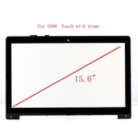 STARDE Replacement Touch For Asus VivoBook S500 Touch Screen Digitizer Panel Glass Sensor Glass + Frame Black 15.6