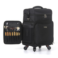 Trolley cosmetic box,Oxford cloth luggage,Multi function makeup and makeup beauty trolley case,Large capacity beauty suitcase
