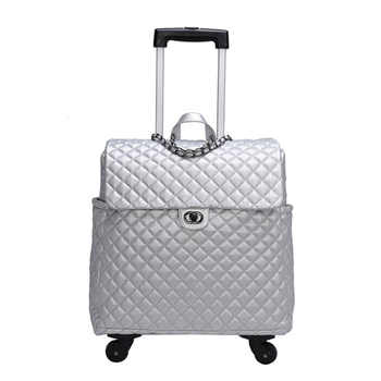 TRAVEL TALE 2019 new vintage leather suitcase spinner retro cabin travel luggage bag for women - DISCOUNT ITEM  39 OFF Luggage & Bags