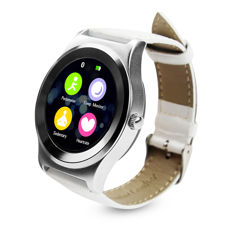 S3 Waterproof Bluetooth Smart Watch Smartwatch Relogio Reloj inteligente Watches App For ios Apple Huawei PK A1 GT08 DZ09 -White