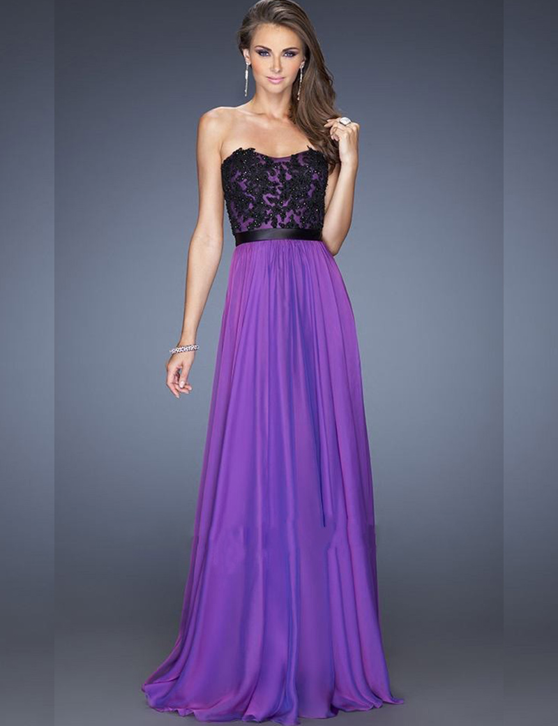 Lace Prom Dresses Sweetheart Line