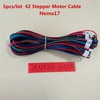Nema17 stepper motor kabel montage RepRap motor verdrahtung 4pin zu 6pin kabel 42 motor draht XH 2 54 stecker nema 17 draht 5 teile/los-in 3D Druckerteile & Zubehör aus Computer und Büro bei