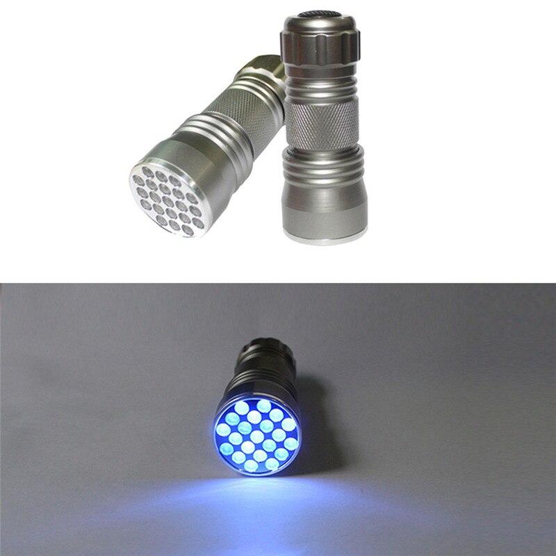Led Light 21 LED Multifunction Mini Aluminum Ultra VioletI Flashlight Camping & Hiking High Quality Wholesales&Retails B2