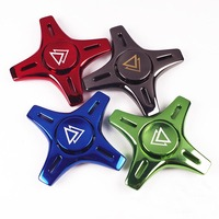 Zinc Storm Autism And ADHD Kids Adult Hand Spinner High Speed Rotation 4 Leaf Long Hand