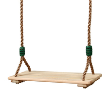 Wooden Garden Swing Outdoor Indoor Games Adults Children #8217 S Wooden Swing For Playground Outdoor Recreational Swing Rope Toy #35 cheap aiboduo 3 Years Outdoor Playground Swivel Chair Swing Boat Swing