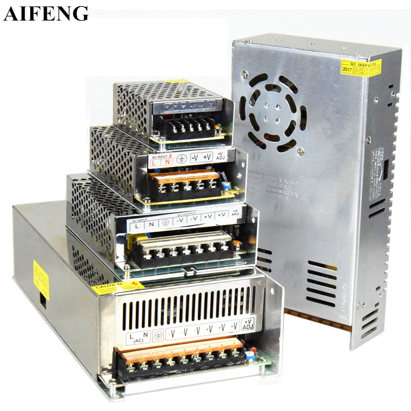 AIFENG Lighting <font><b>Transformers</b></font> DC <font><b>12V</b></font> 24V Led Lights Driver For Led Strip Power Supply 12W 24W 36W 48W 60W 72W <font><b>120W</b></font> 240W 360W 600W image