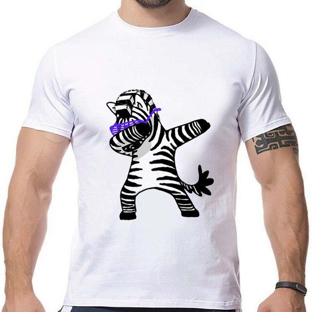 Moda Dabbing danza divertida camiseta DAB unicornio gato cebra Panda perro conejo Camiseta de manga corta Camisetas de hip hop camiseta BMD02 RW