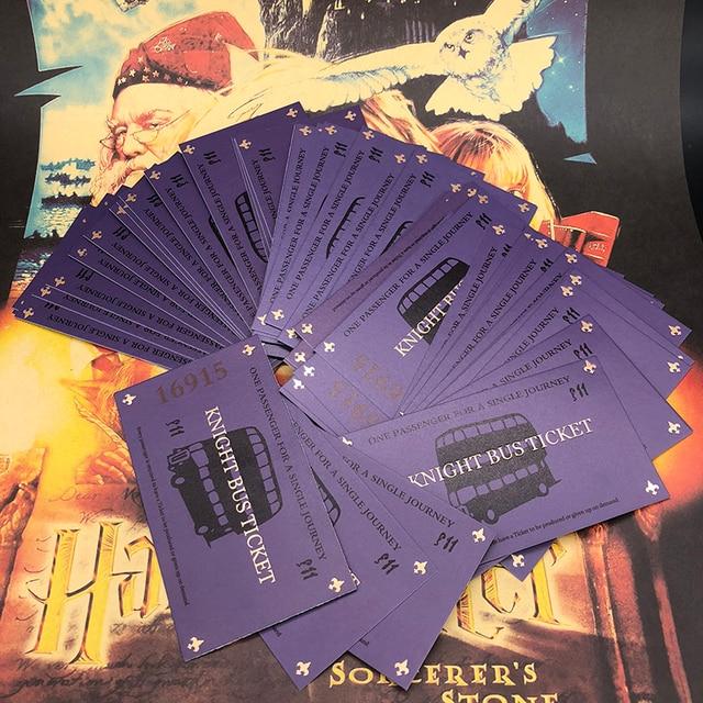 10 шт./20 шт./30 шт. Харри Поттер рыцарь билет на автобус 100% Экран (видео) точные | Харри Поттер опора