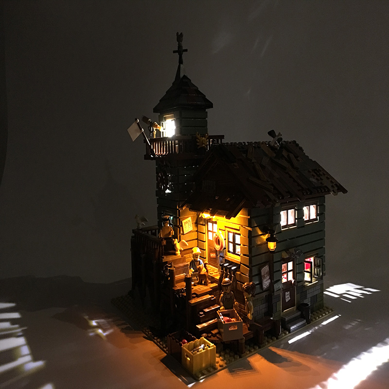 Led Light Set For Lego Building City Street 21310 for 16050 Old Fishing Store Blocks Toys Creator City Street Lighting Set       (2)