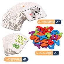 Купить с кэшбэком Double-sided stereoscopic cognitive puzzle 26 English alphabet template +10 digital templates, 3D double-sided puzzle Baby toys