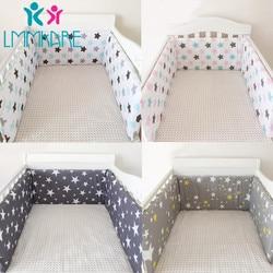 Hot Baby Bed Crib Bumper U-Shaped Detachable Zipper Cotton Newborn Bumpers Infant Safe Fence Line bebe Cot Protector Unisex 1.8m