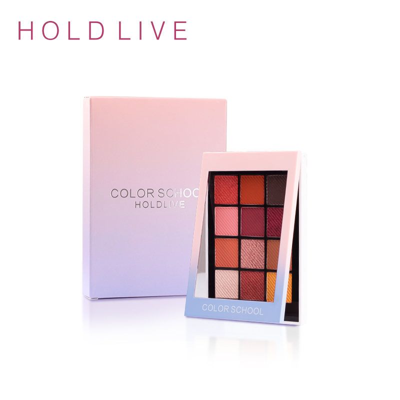 LIVE HALTEN 12 Volle Farben Matte Lidschatten-palette Pigment Glitter Lidschatten Paletten Nude Schatten Kosmetik Korean Make-Up Augen