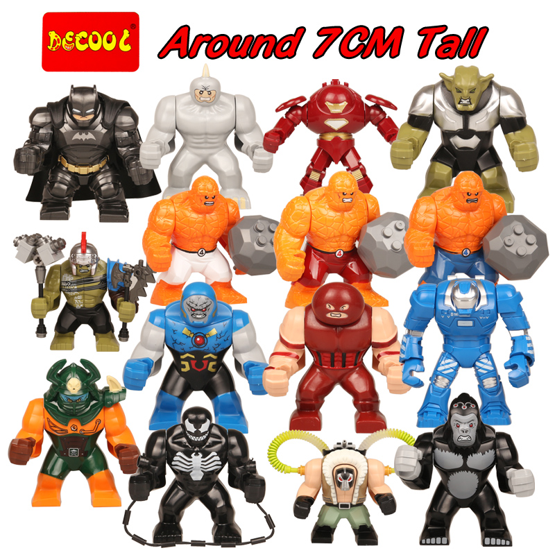 Super Heroes Marvel Avengers DC  Block Batman Venom Hulk Rhino Dogshank Darkseid Grodd Mark 38 Kids Educational Toys