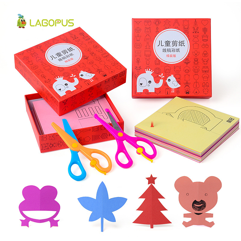 Lagopus Scrapbook Origami Paper Toys for Children Colored Card DIY Scissors Paper Cutting Folded Craft Paper Gift for Kids 6 pcs decorative wave lace edge craft stationery photos photograph scissors diy for kids scrapbook handmade artwork card