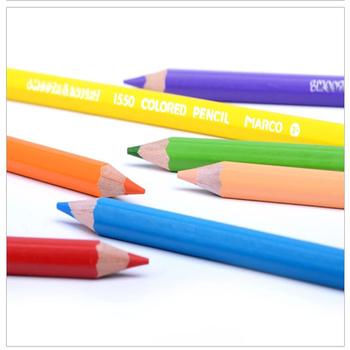 12 24 36 Marco1550 kolory kolorowe kredki ołówki grube kredki kolorowe kredki tłusty kolor ołowiu garnitur dla dzieci Student Series tanie i dobre opinie Standardowy ołówki Zestaw Oil Pen Oil pastel Marco 1550 Office School Pencil Color