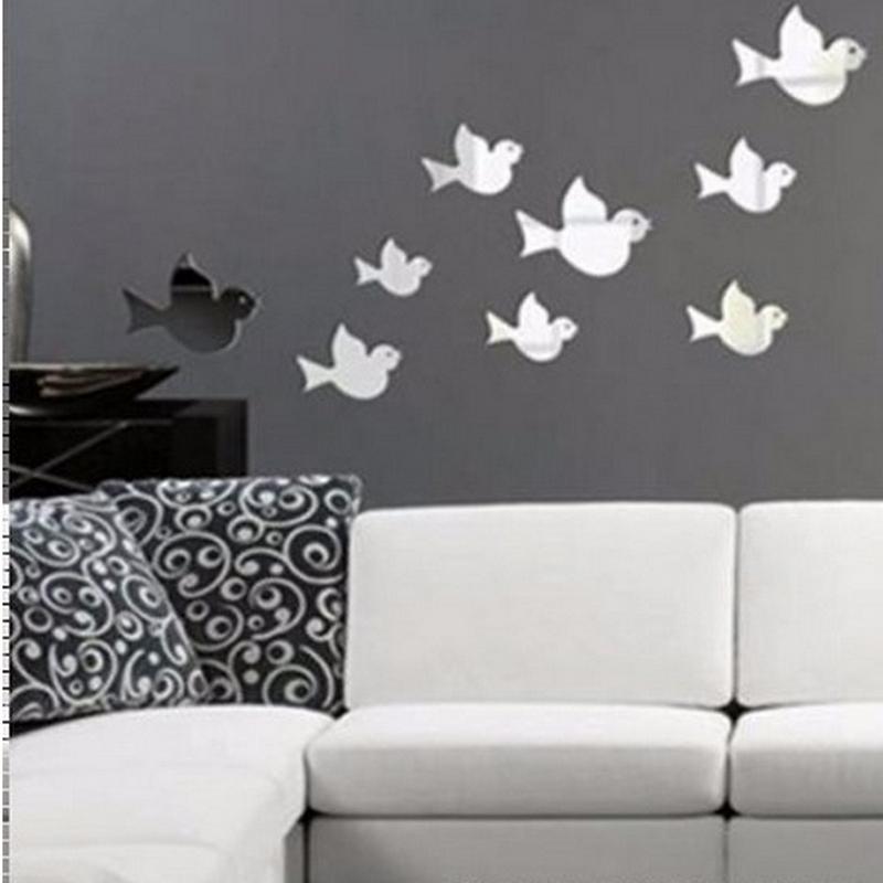 nueva venta caliente etiqueta de la pared pegatinas vinilos paredes diy espejo de acrlico d