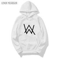Nieuwe mens hoodies Alan Wandelaar met elektrische geluiden herfst winter lange mouw hoodie merk kleding voor mannen
