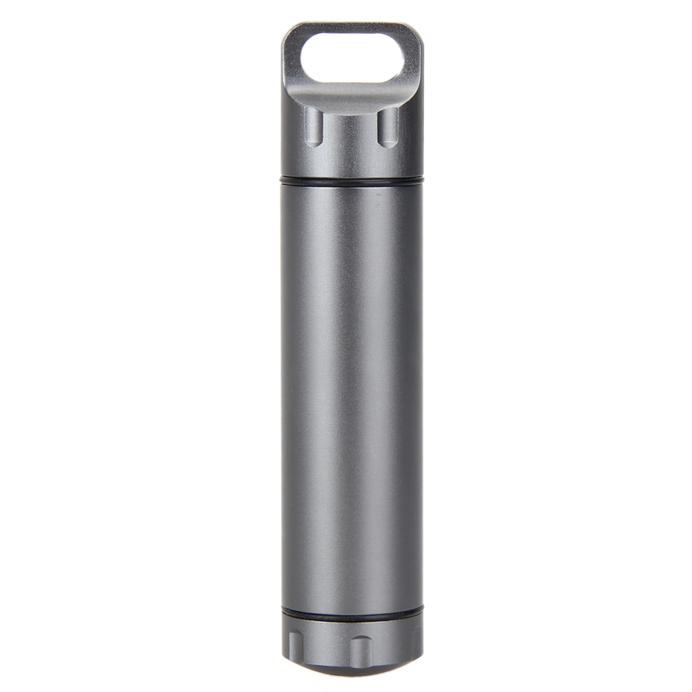 Outdoor Medicine Pill Bottles Survival Waterproof Aluminum Tank  Mini EDC Box Cases for Storage Cigarette Matches Camping Gear