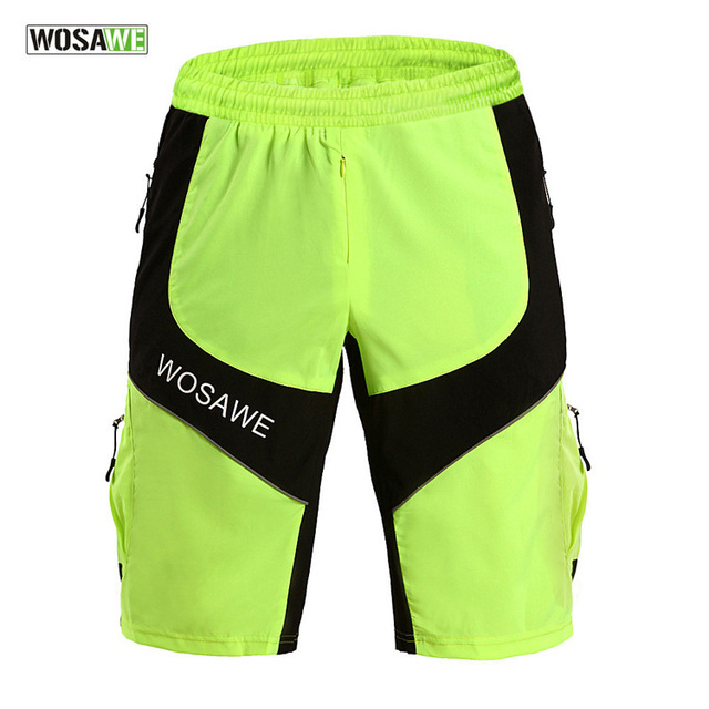 WOSAWE Cycling Shorts MTB Bike Shorts Breathable Waterproof Loose Fit  Outdoor Sports Bicycle Trousers With Zippered Pockets 704761050