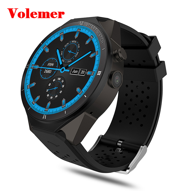 Volemer 3G Android Smartwatch Phone MTK6580 Quad Core 1.3GHz with SIM Card GPS WiFi 1GB+16GB 2.0MP Camera Smart Watch for Xiaomi цена