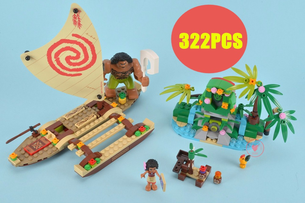 New Princess Moana Ocean Voyage fit legoings Princess friends figures city model Building Blocks bricks girls Toys gift kid 2018 new friends model building blocks toys snow resort chalet kid bricks toy girls 41323 compatible legoes friends gift kid set