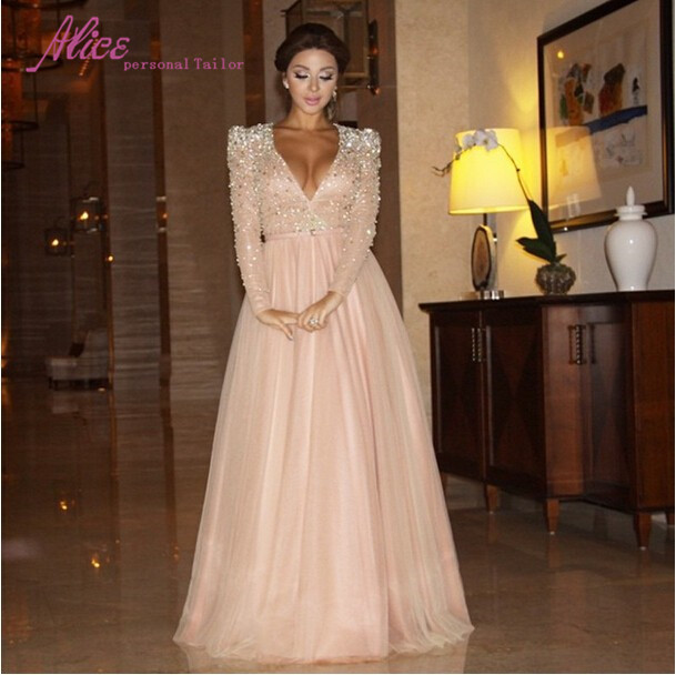 Images of Long Sleeve Evening Dresses - Reikian