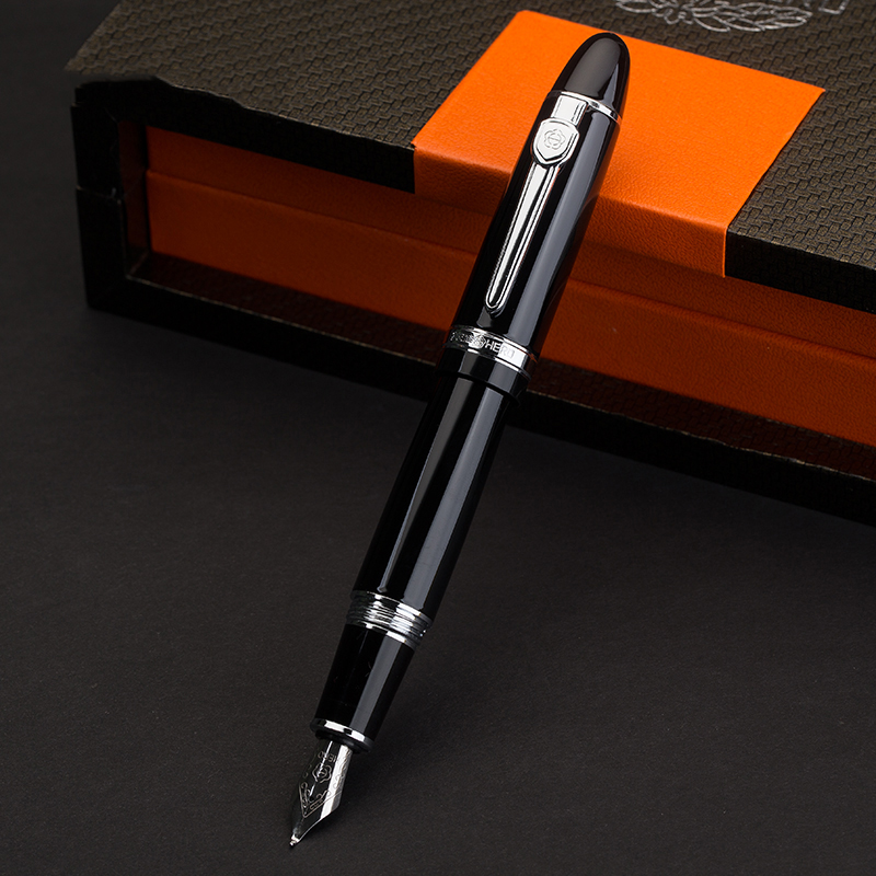 b6ede87ce2b0 Hero Screw Open Silver Clip 0.5mm Fountain Pen/1.0mm Bent Nib Art  Calligraphy