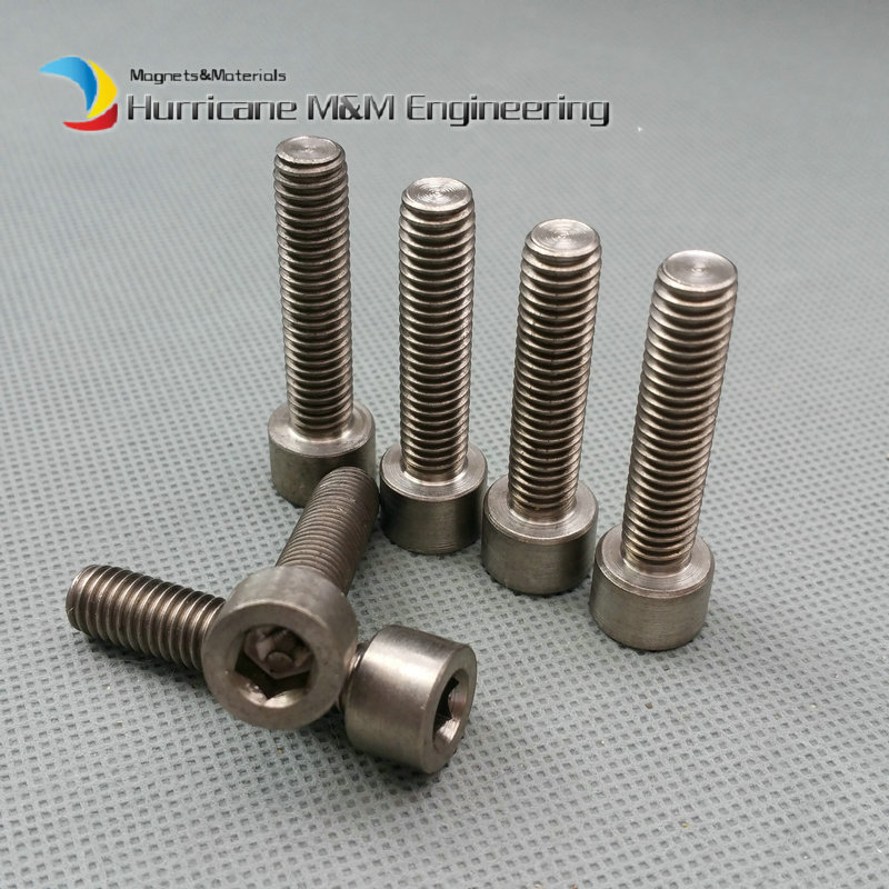 Wholesale 24/120 pcs M8 M8x35mm Titanium Bolt Ti Bolts DN912 Hexagon Socket Column Head Titanium Screws Ti Fasteners