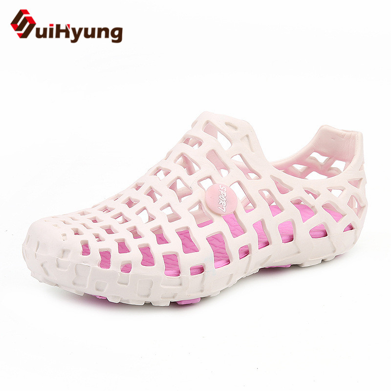 Suihyung Design New Women And Men Summer Flat Shoes Hit Color Breathable Hollow Beach Slippers Flips Non-slip Unisex Sandals suihyung design new women and men summer flat shoes hit color breathable hollow beach slippers flips non slip unisex sandals