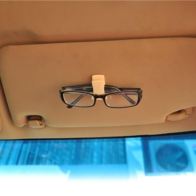 2 Pcs Car Accessory Sun Visor Sunglasses Eyeglasses Glasses Card Pen ABS Portable Clip Ticket Holder Stand Car Accessories