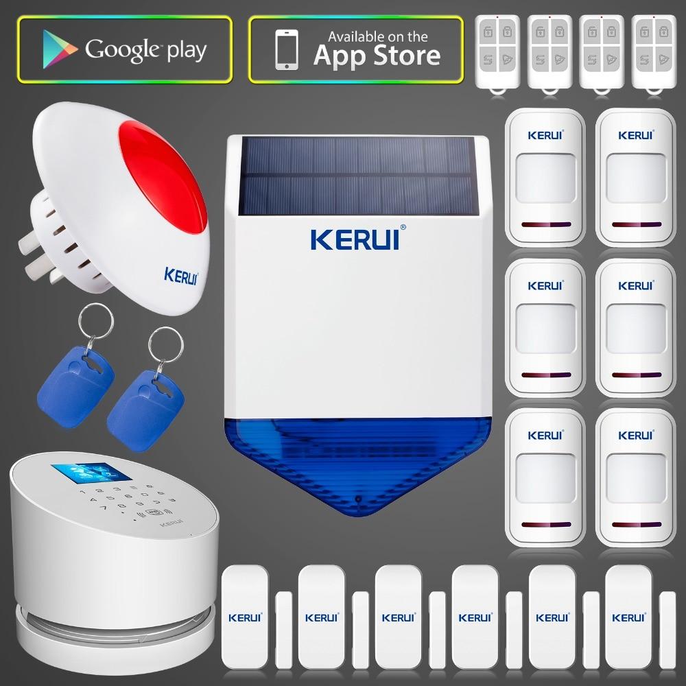 DHL EMS free shipping Original KERUI W2 font b Wireless b font APP Control WIFi GSM