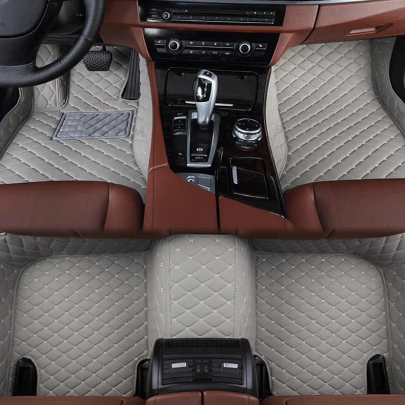 שטיחי רצפת מכונית ארבע עונה להשתמש עבור חכם כל מודלים fortwo forfour forjeremy רכב סטיילינג Custom אוטומטי רצפת מחצלות ורוד/סגול/אדום